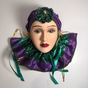Other - Mardi Gras Porcelain Ladies Head